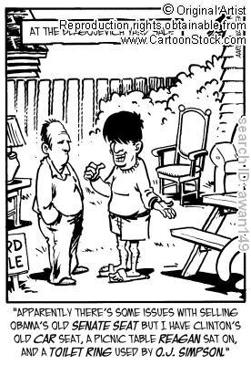 garage sale cartoon