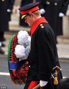 Prince Harry on Rembrance Day 2009
