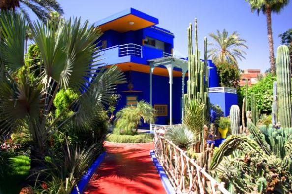 Majorelle with its famous gardens restored byYves and