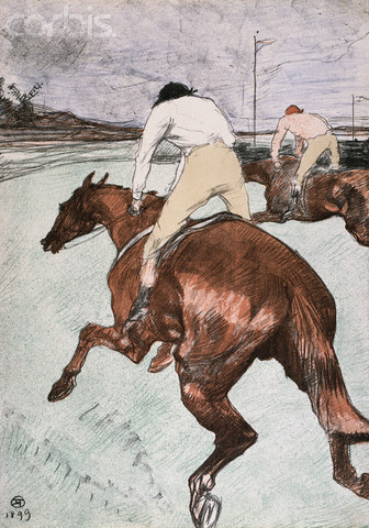 "Painting  of ""The Jockey"" by Henri de la Touluse-Lautrec"