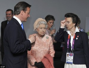Queen not looking well at the Olympics